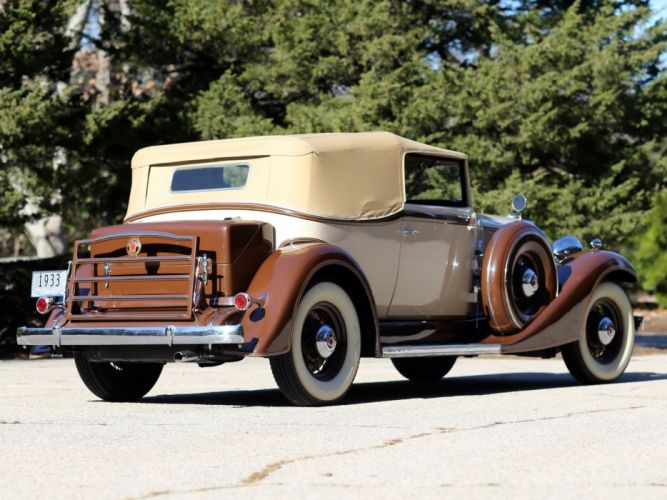 1933 Packard Eight Convertible Victoria Dietrich (1002-627) retro luxury f wallpaper