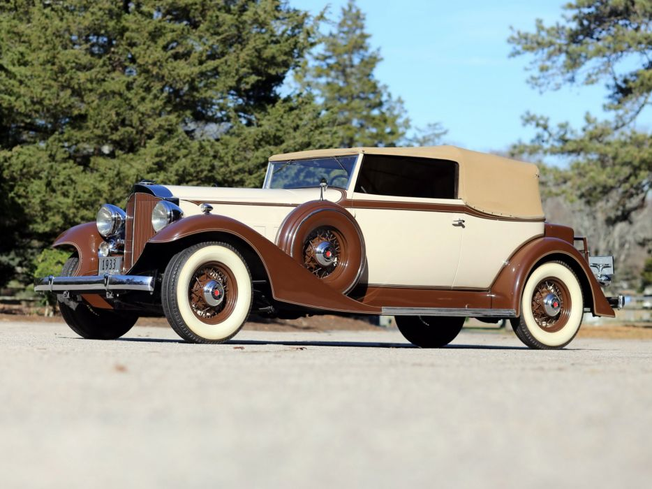 1933 Packard Eight Convertible Victoria Dietrich (1002-627) retro luxury   r wallpaper