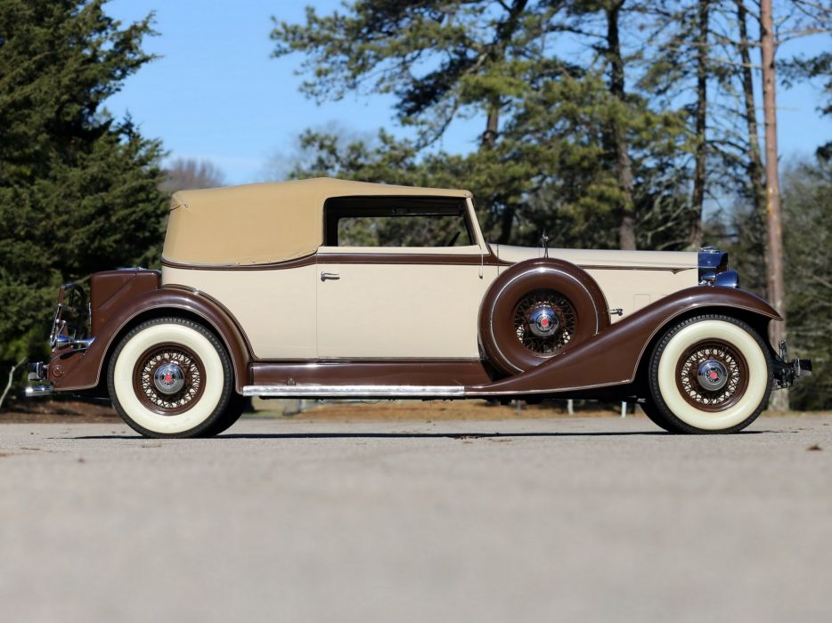 1933 Packard Eight Convertible Victoria Dietrich (1002-627) retro luxury  r wallpaper