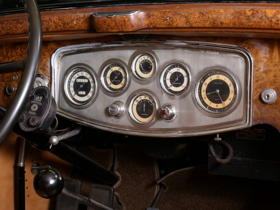1933 Packard Eight Convertible Victoria Dietrich (1002-627) retro luxury interior  g wallpaper