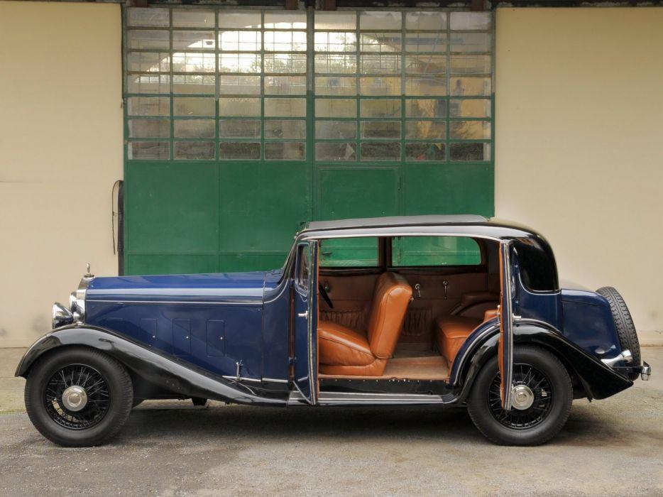 1934 Delage D8-15 Pillarless Saloon luxury retro interior    g wallpaper