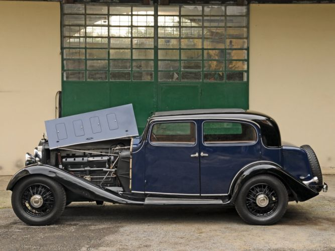 1934 Delage D8-15 Pillarless Saloon luxury retro engine g wallpaper