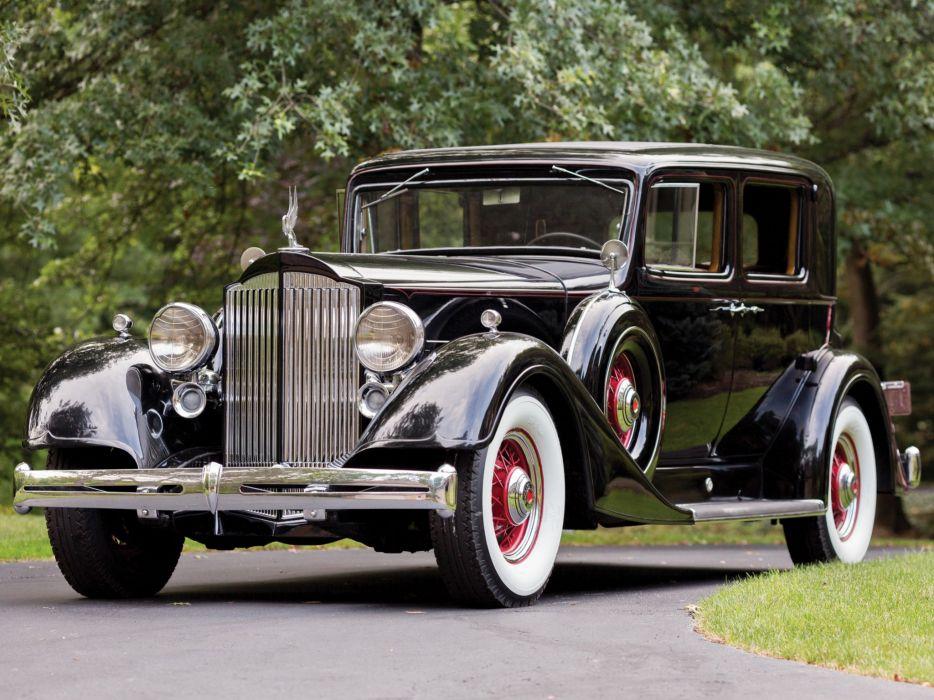 1934 Packard Super Eight Club Sedan (1104-756) retro luxury  f wallpaper