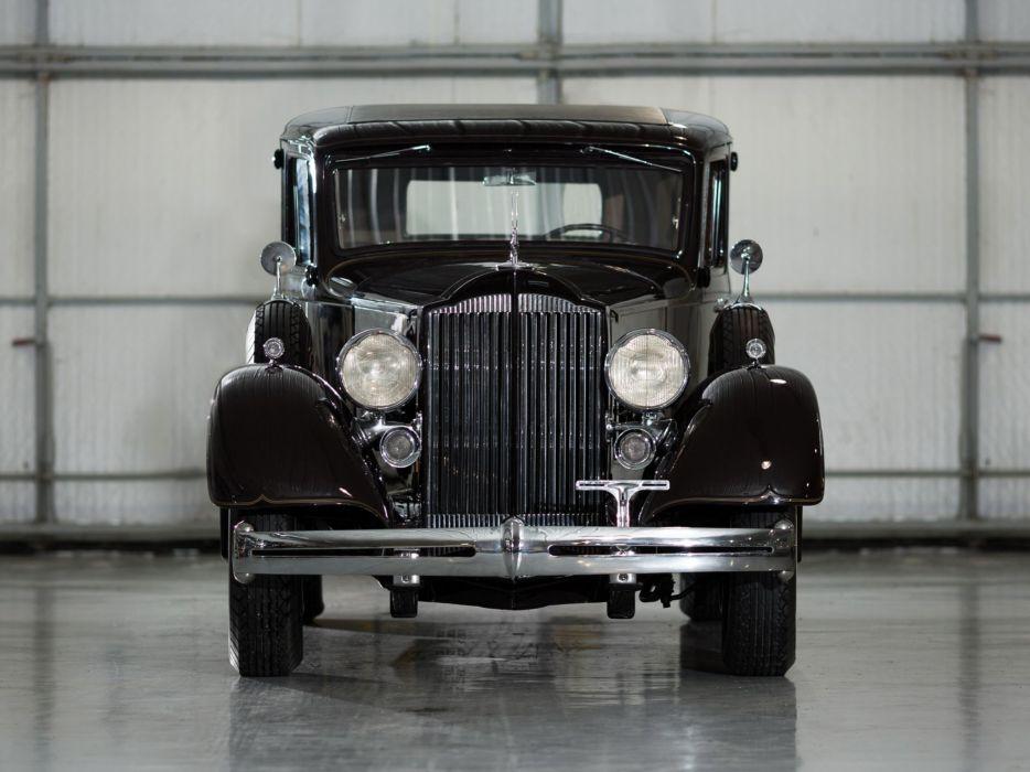 1934 Packard Super Eight Club Sedan (1104-756) retro luxury  d wallpaper