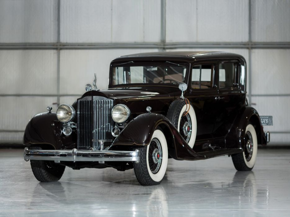 1934 Packard Super Eight Club Sedan (1104-756) retro luxury  v wallpaper