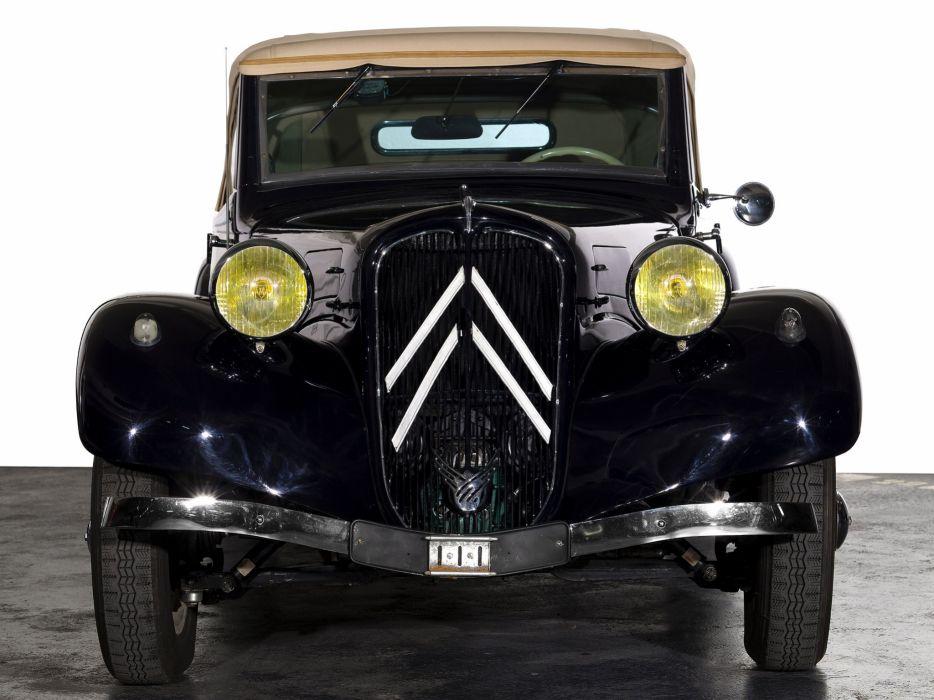 1934-57 Citroen Traction Avant Cabrio retro  te wallpaper