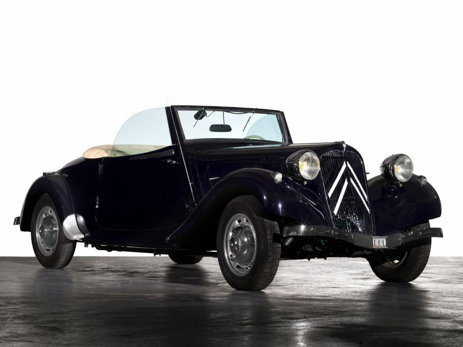 1934-57 Citroen Traction Avant Cabrio retro  t wallpaper