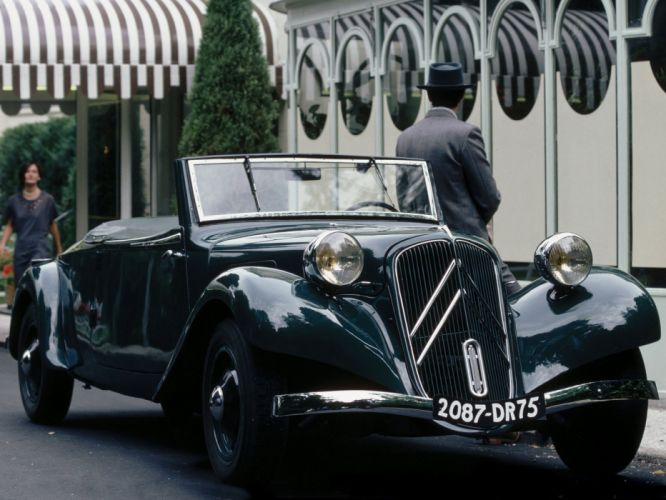 1934-57 Citroen Traction Avant Cabrio retro r wallpaper