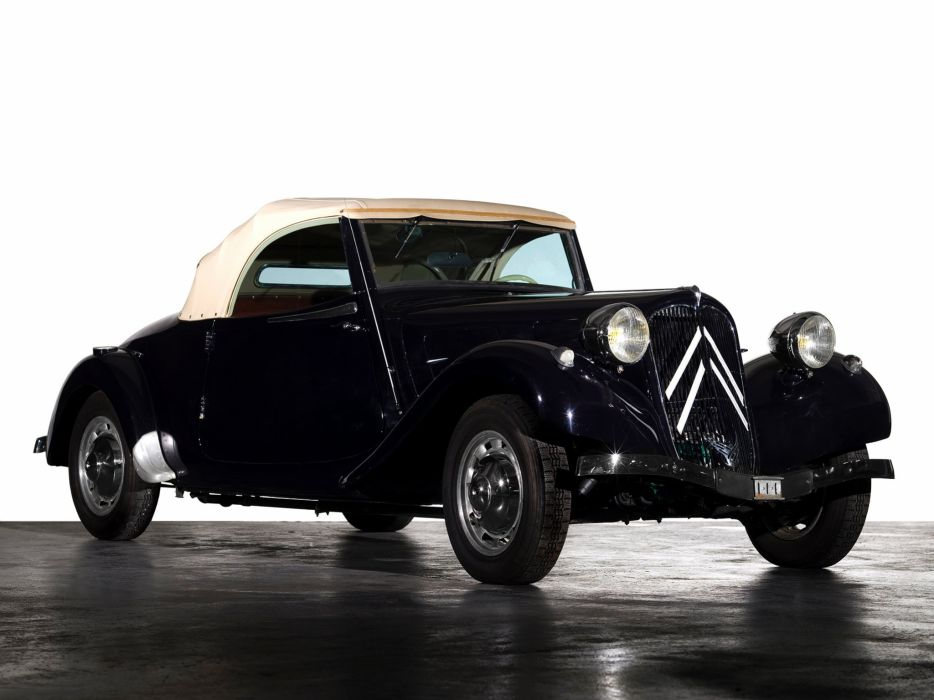 1934-57 Citroen Traction Avant Cabrio retro  g wallpaper