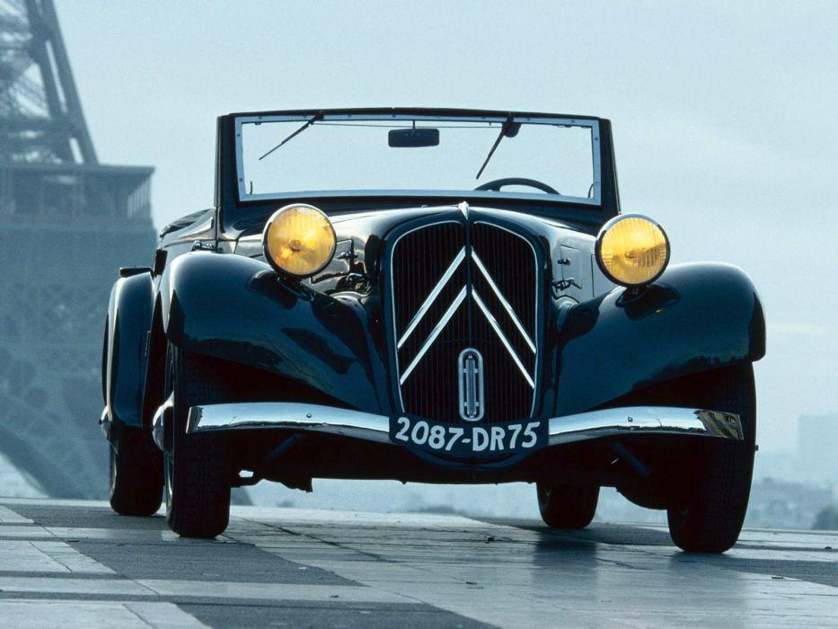 1934-57 Citroen Traction Avant Cabrio retro      g wallpaper