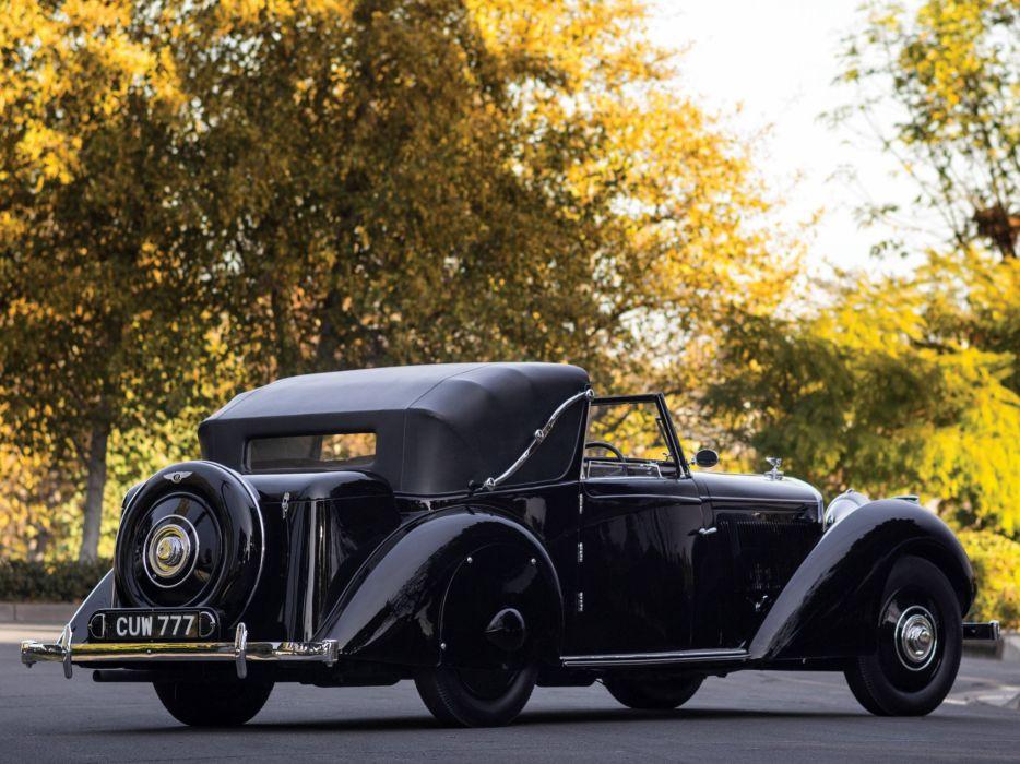 1936 Bentley Sedanca Coupe Windovers luxury retro   g wallpaper
