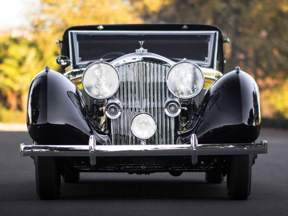 1936 Bentley Sedanca Coupe Windovers luxury retro  f wallpaper