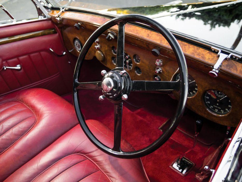 1936 Bentley Sedanca Coupe Windovers luxury retro interior     g wallpaper