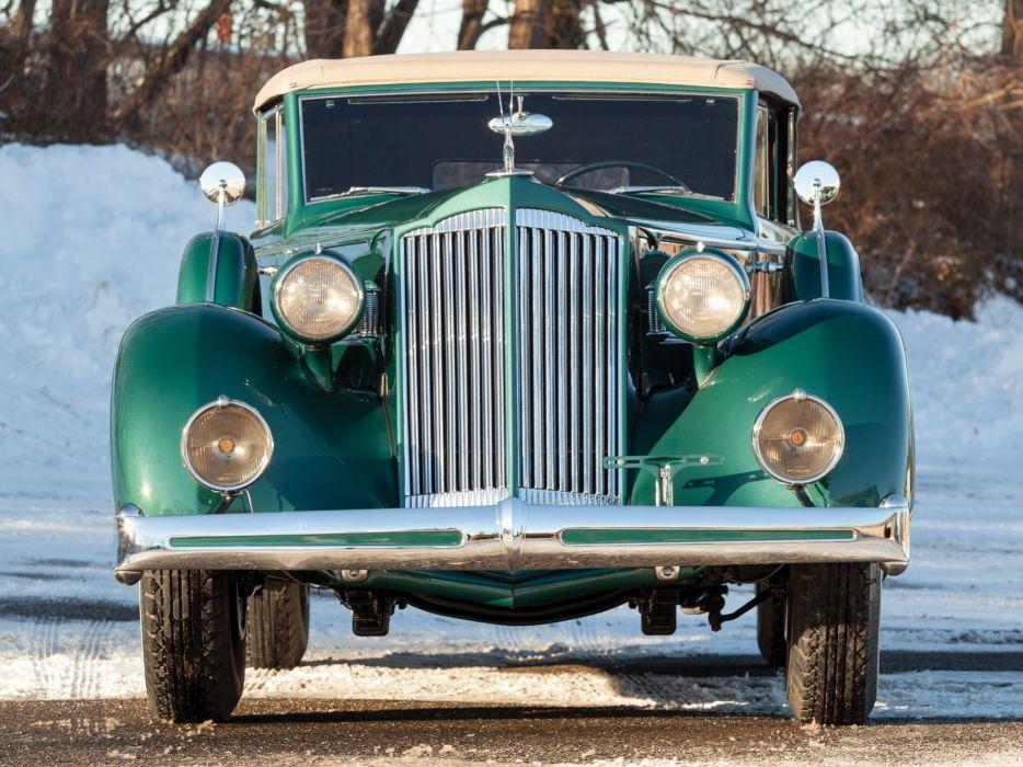 1936 Packard Eight Convertible Sedan (1402-963) luxury retro   f wallpaper