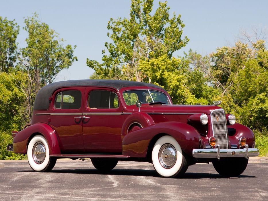 1937 Cadillac Series-85 V12 Fleetwood Formal Sedan (37-8509F) retro luxury  y wallpaper