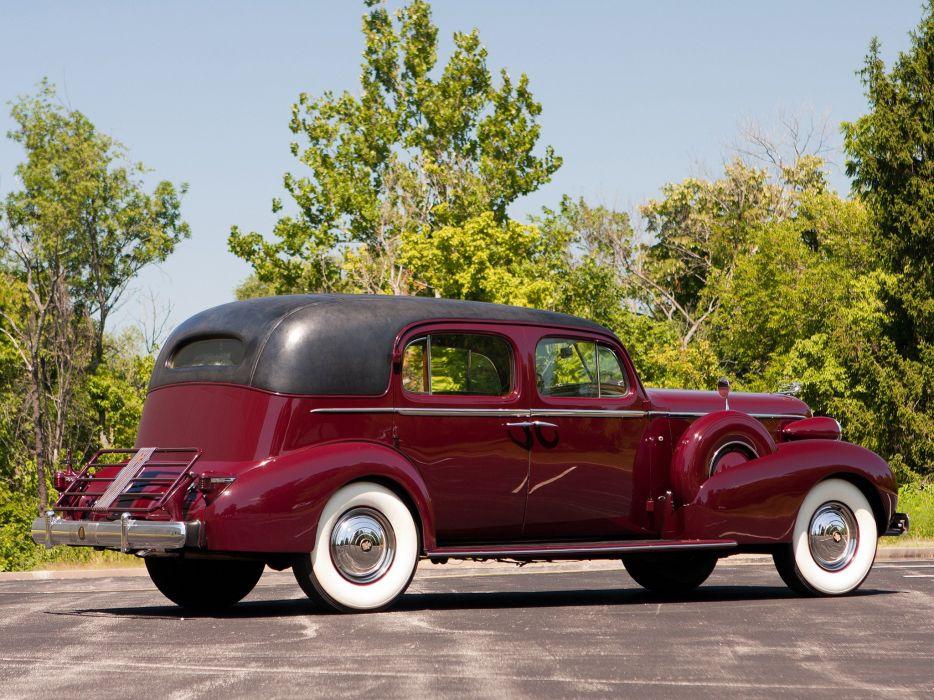 1937 Cadillac Series-85 V12 Fleetwood Formal Sedan (37-8509F) retro luxury      h wallpaper