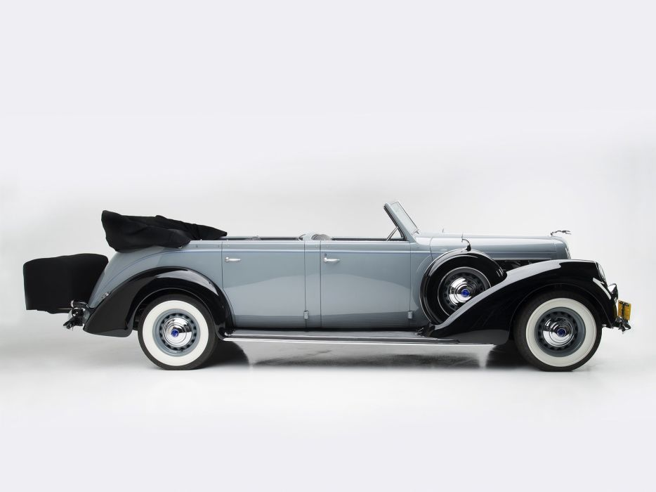 1937 Lincoln Model-K 7-passenger Touring Willoughby luxury retro   d wallpaper
