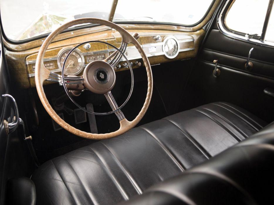 1940 Packard 120 Convertible Sedan (1801-1397) retro luxury interior    f wallpaper