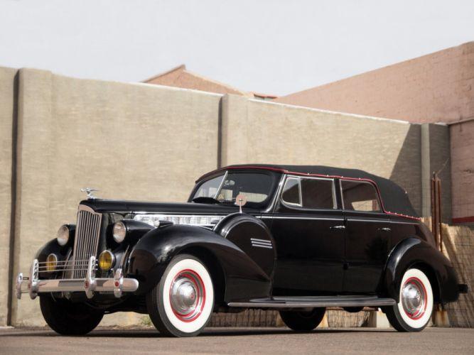 1940 Packard 120 Convertible Sedan (1801-1397) retro luxury f wallpaper