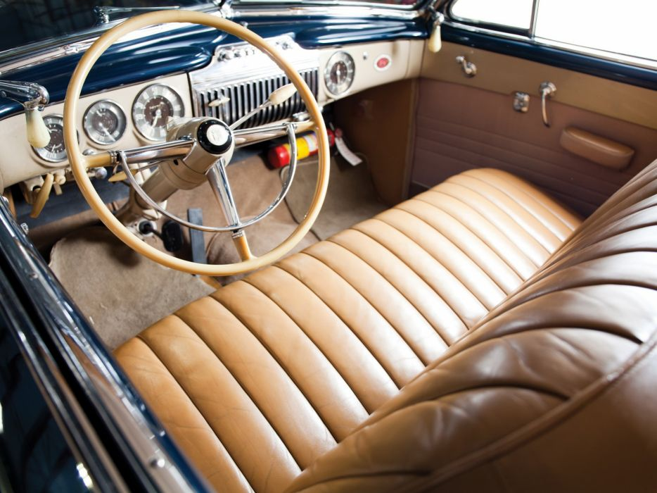 1947 Cadillac Sixty Two Convertible 6267 retro luxury interior       g wallpaper