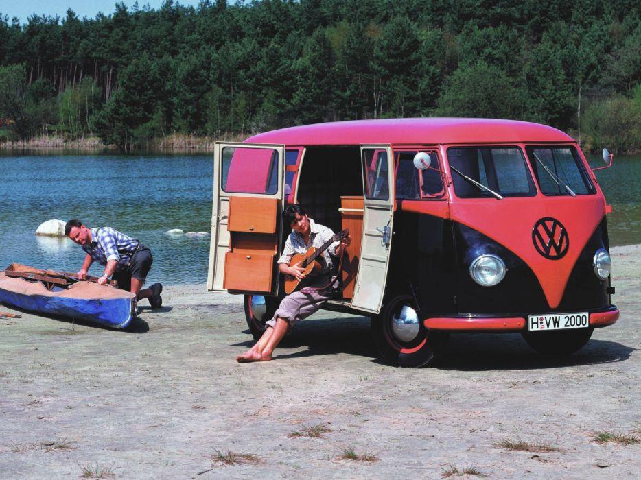 1950-67 Volkswagen T-1 Kombi bus classic retro e wallpaper