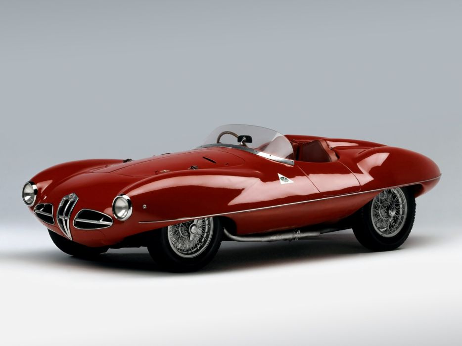 1952 Alfa Romeo 1900 C52 Disco Volante Spider (1359) race racing retro supercar   e wallpaper