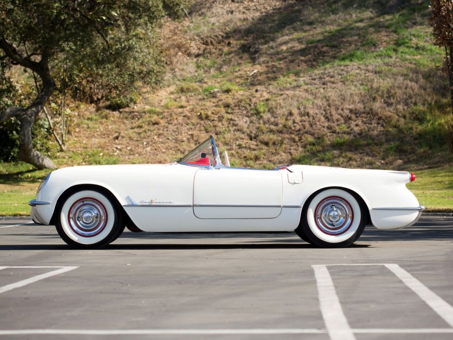 1955 Chevrolet Corvette C-1 (2934) supercar muscle retro     h wallpaper
