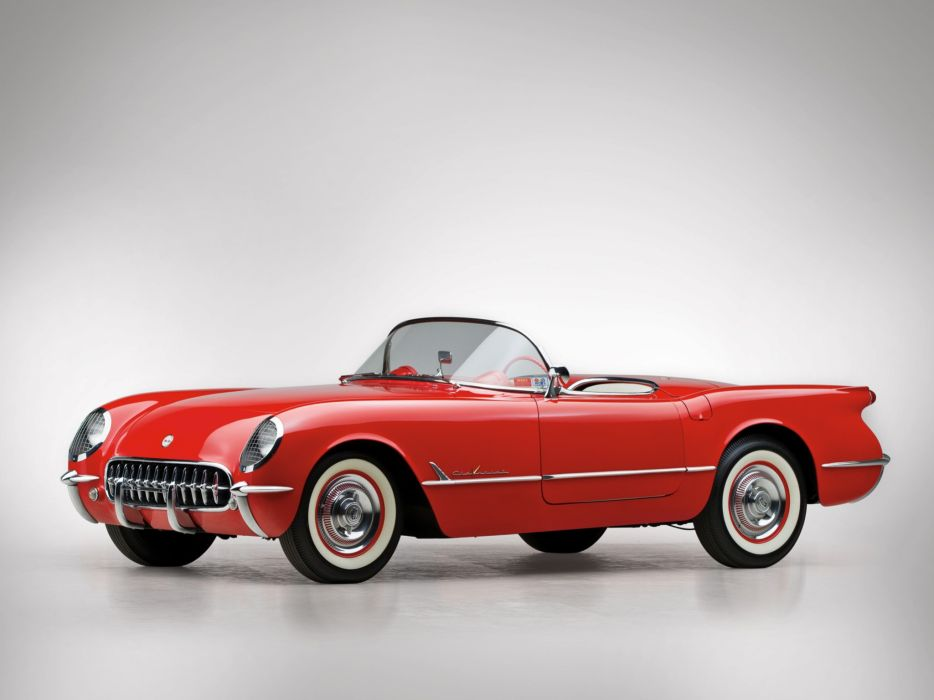 1955 Chevrolet Corvette C-1 (2934) supercar muscle retro  g wallpaper