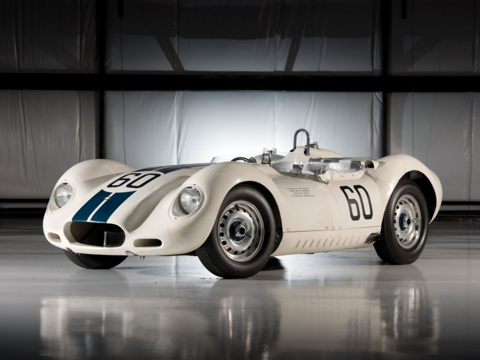 1957 Lister Knobbly Sports Racing race retro supercar   f wallpaper