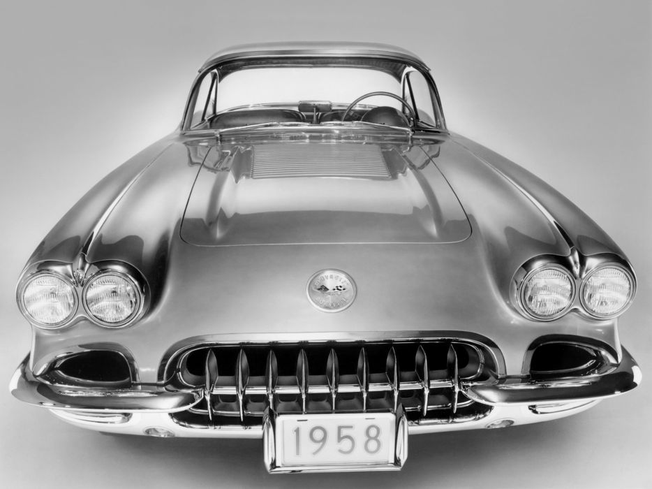 1958 Chevrolet Corvette C-1 (J800-867) muscle supercar retro  t wallpaper