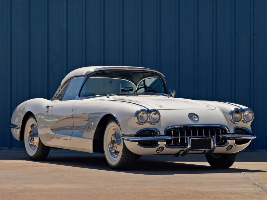 1958 Chevrolet Corvette C-1 (J800-867) muscle supercar retro   hs wallpaper
