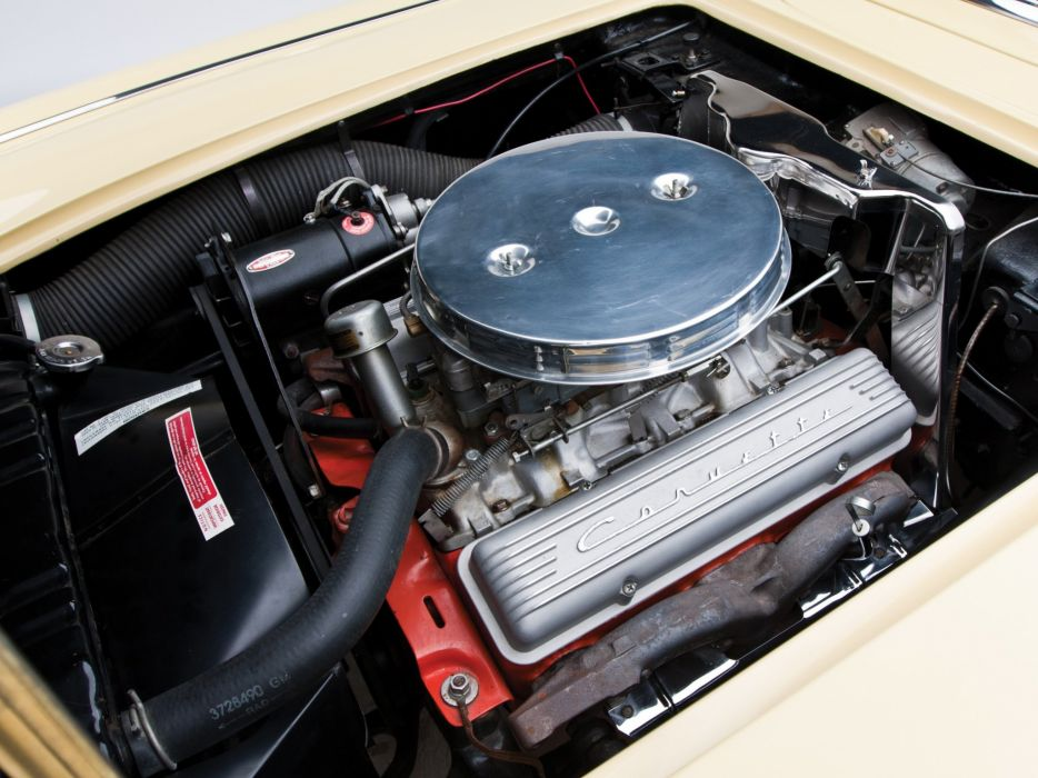 1958 Chevrolet Corvette C-1 (J800-867) muscle supercar retro engine  g wallpaper