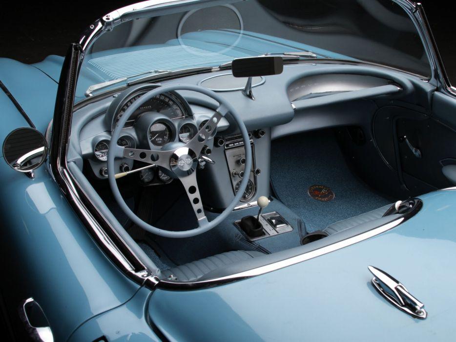 1958 Chevrolet Corvette C-1 (J800-867) muscle supercar retro interior     g wallpaper