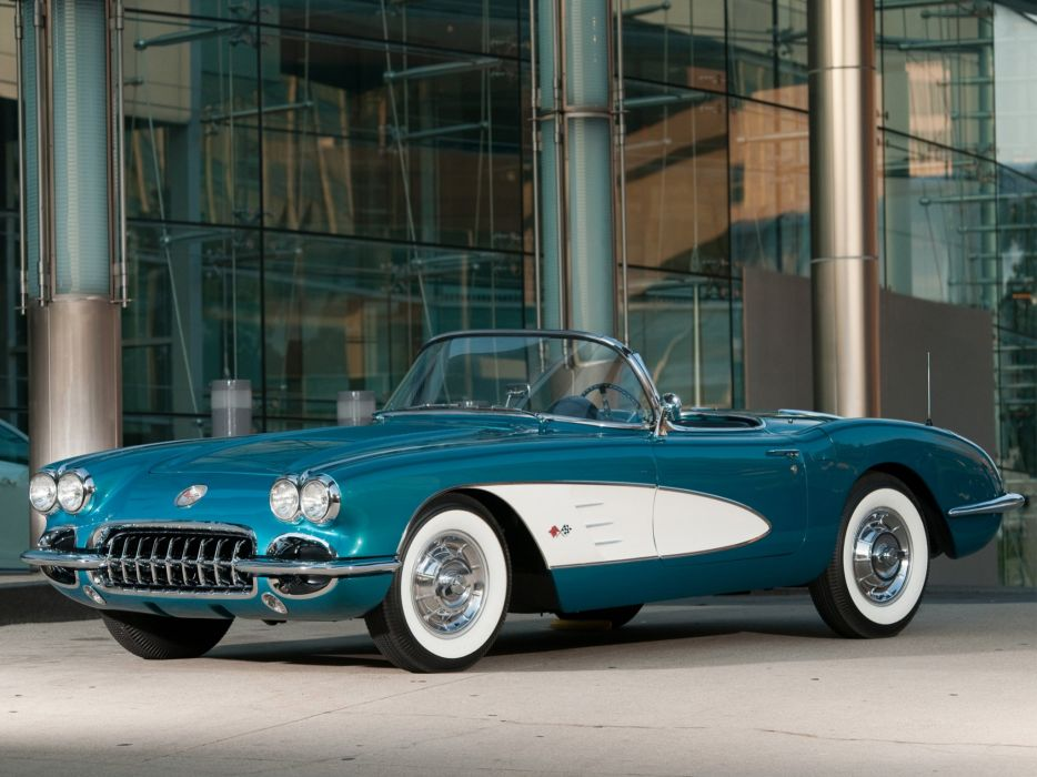1958 Chevrolet Corvette C-1 (J800-867) muscle supercar retro   h wallpaper