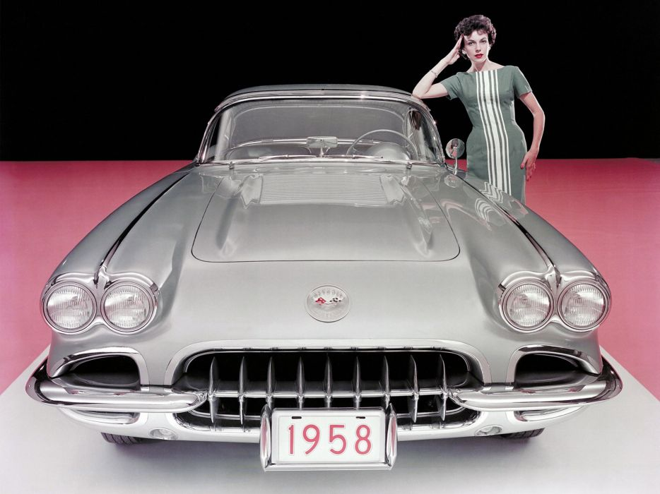 1958 Chevrolet Corvette C-1 (J800-867) muscle supercar retro   g wallpaper