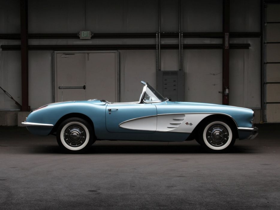 1958 Chevrolet Corvette C-1 (J800-867) muscle supercar retro   jh wallpaper