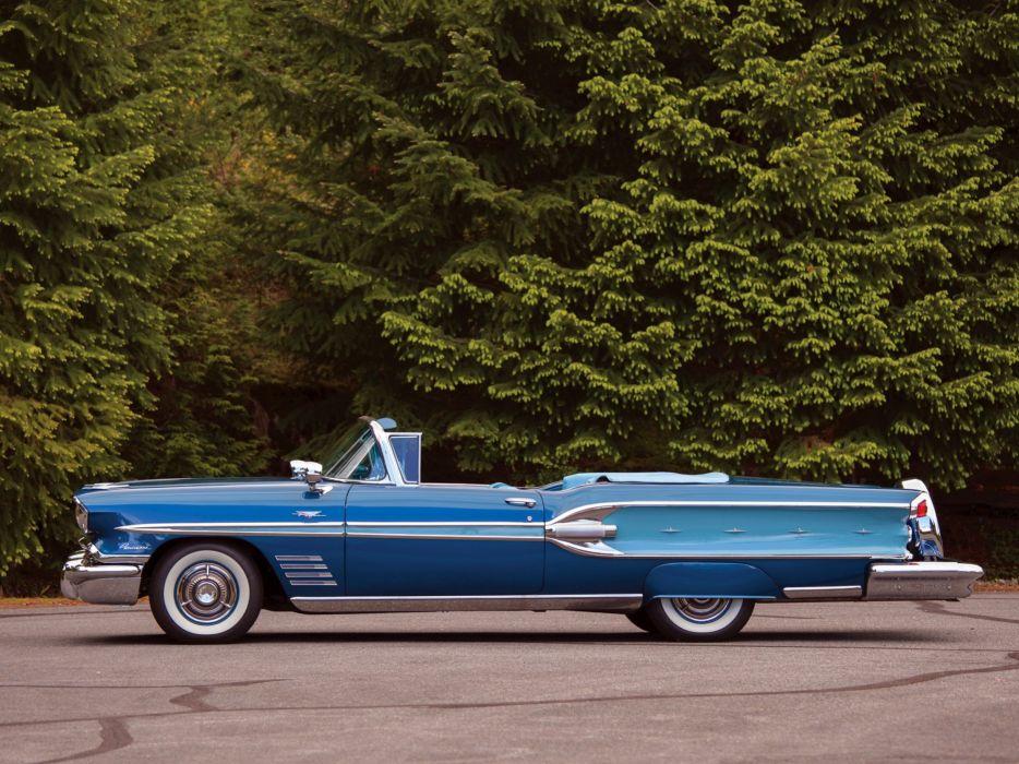 1958 Pontiac Parisienne Convertible luxury retro  fu wallpaper