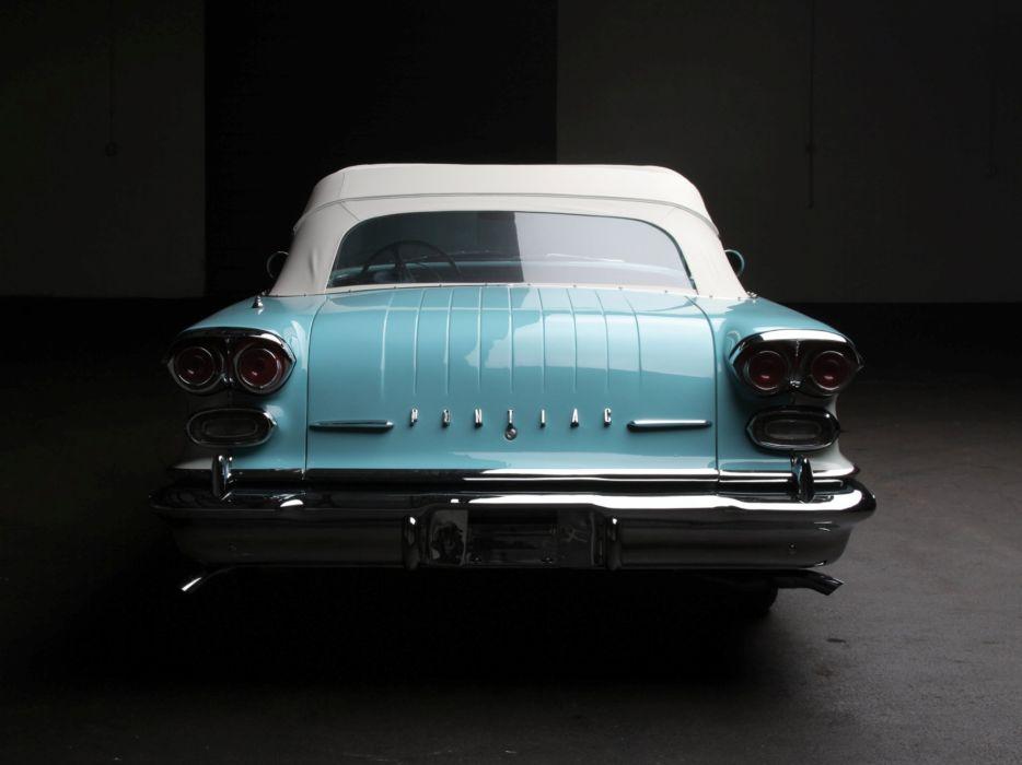 1958 Pontiac Parisienne Convertible luxury retro  f wallpaper