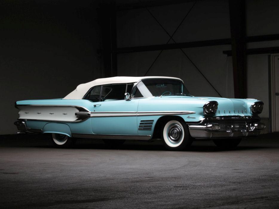 1958 Pontiac Parisienne Convertible luxury retro     g wallpaper