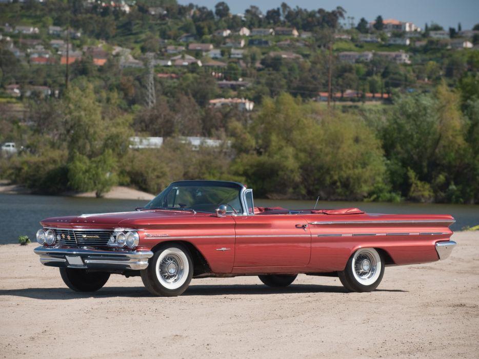 1960 Pontiac Bonneville Convertible (2867) classic luxury      d wallpaper