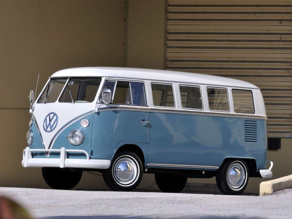 1963-67 Volkswagen T-1 Deluxe Bus van classic  e wallpaper