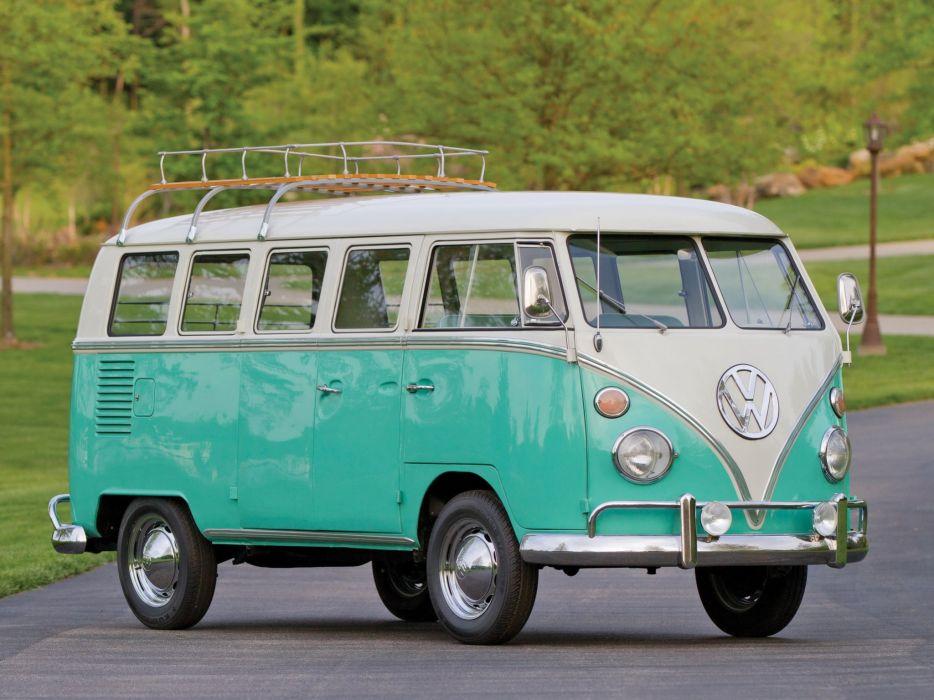 1963-67 Volkswagen T-1 Deluxe Bus van classic  et wallpaper