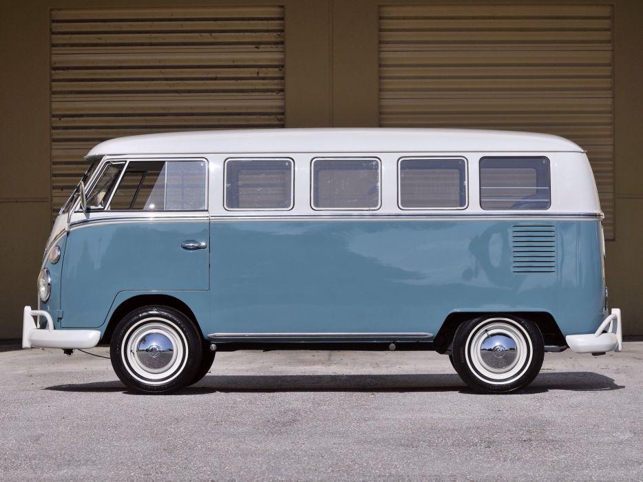1963-67 Volkswagen T-1 Deluxe Bus van classic  g wallpaper