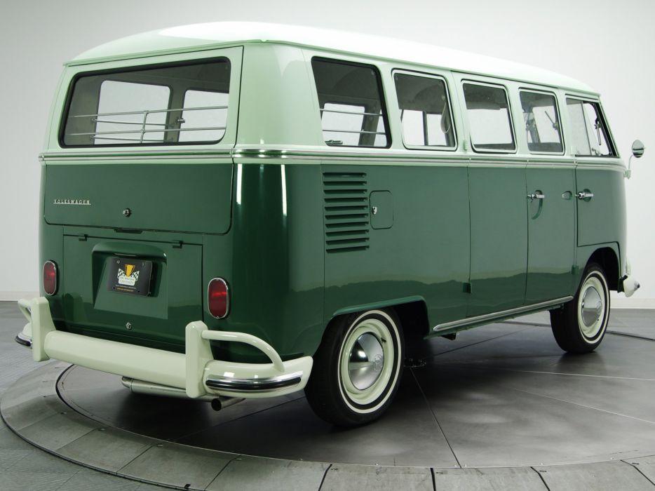 1963-67 Volkswagen T-1 Deluxe Bus van classic  f wallpaper