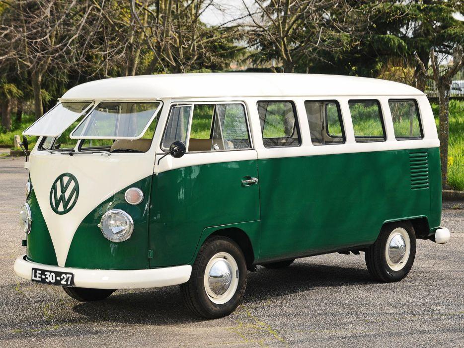 1963-67 Volkswagen T-1 Deluxe Bus van classic  fg wallpaper