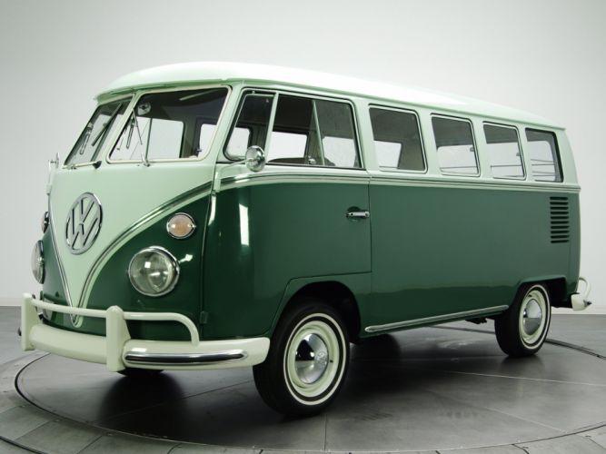 1963 67 Volkswagen T 1 Deluxe Bus Van Classic R Wallpaper