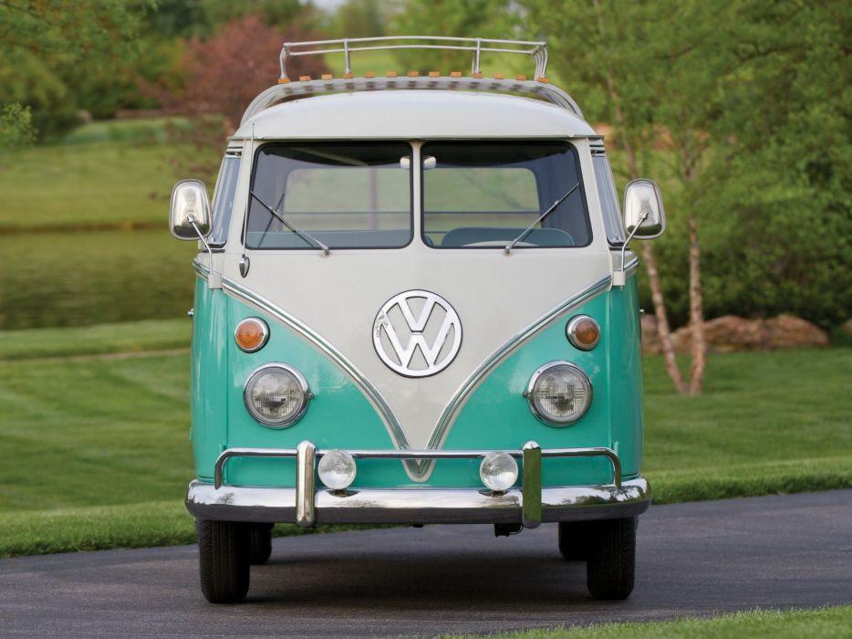 1963-67 Volkswagen T-1 Deluxe Bus van classic r wallpaper