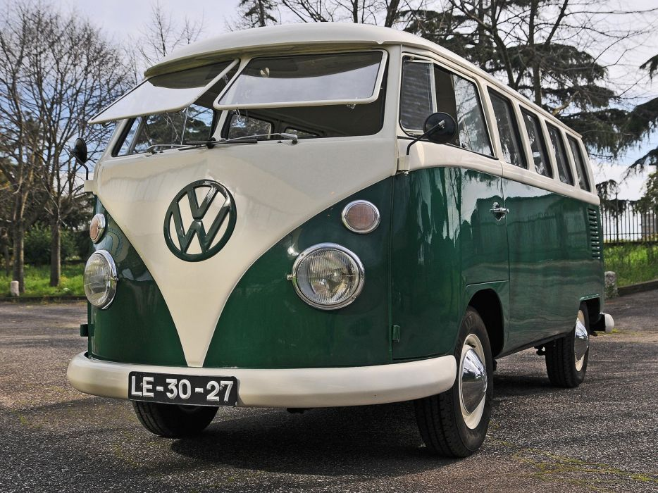 1963-67 Volkswagen T-1 Deluxe Bus van classic  rq wallpaper