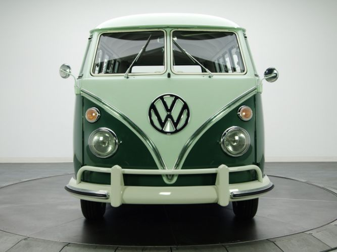 1963-67 Volkswagen T-1 Deluxe Bus van classic rs wallpaper