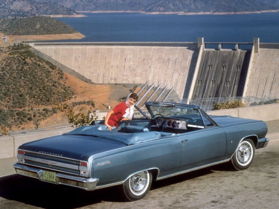 1964 Chevrolet Chevelle Malibu S-S Convertible (5758-67) muscle classic   dw wallpaper